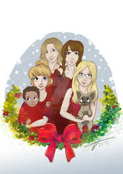 Commission: family Christmas!
