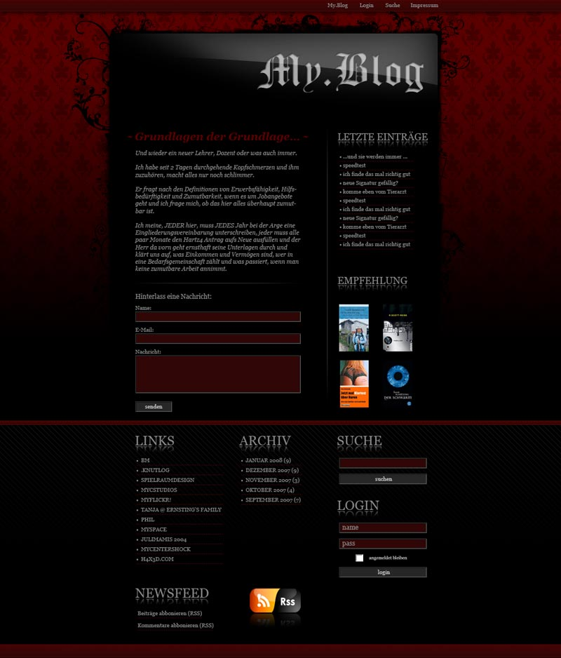 Wordpress Theme New Layout by cypher7