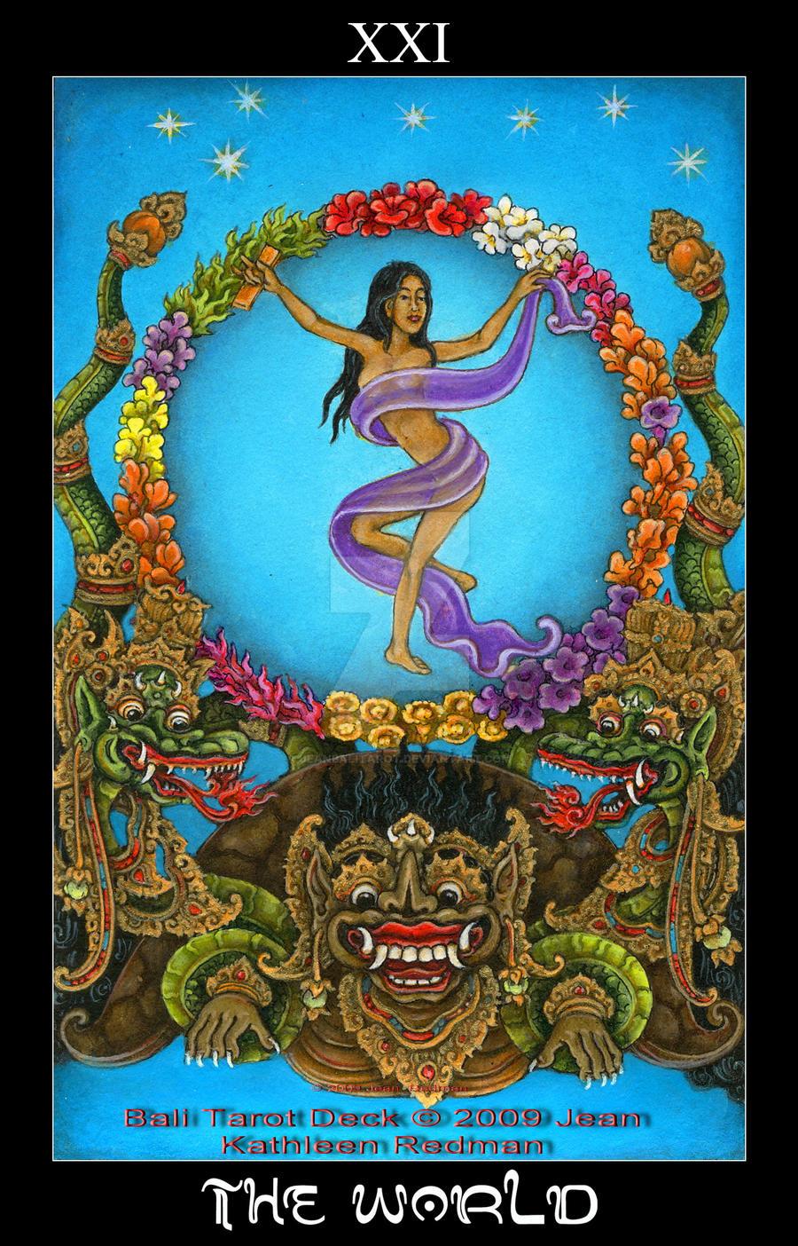 The World, Bali Tarot Deck By Jeanbalitarot On DeviantArt