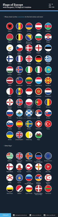 Flags of Europe - Flat Icons