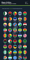 Flags of Africa - Flat Icons