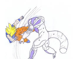 Goku vs Frieza Full Power by BlinVarfi