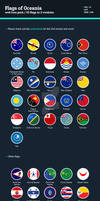 Flags of Oceania - Flat Icons