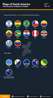 Flags of South America - Flat Icons