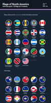 Flags of North America - Flat Icons