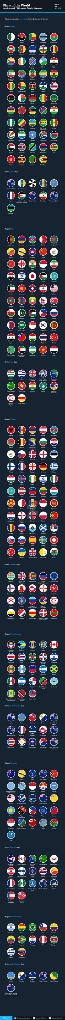 Flags of the World - Flat Icons Bundle