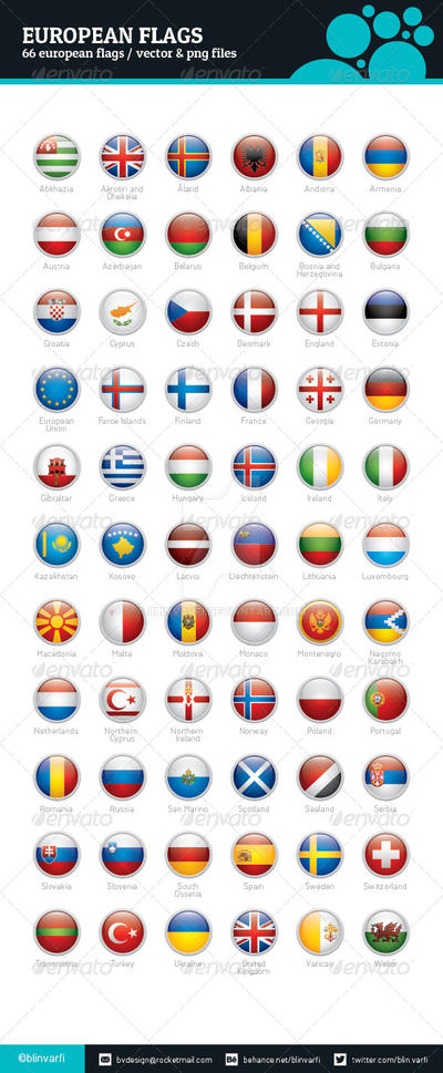 Europe Flags - Rounded Icons by BlinVarfi