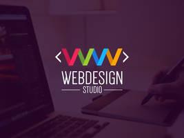 Web Design Studio Logo Template by BlinVarfi