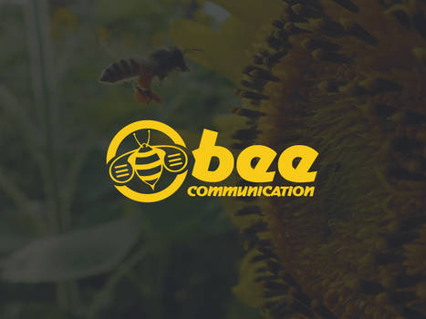 Bee Communication Logo Template