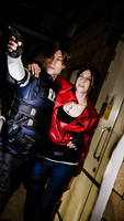 Hang on, Claire! - Leon and Claire - RE2 Remake