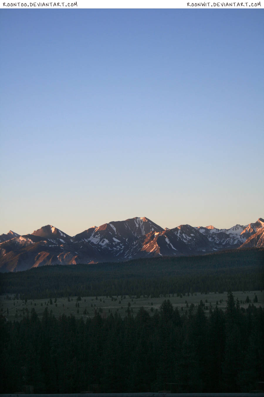 Sierra mountain sunrise 1 by RoonToo