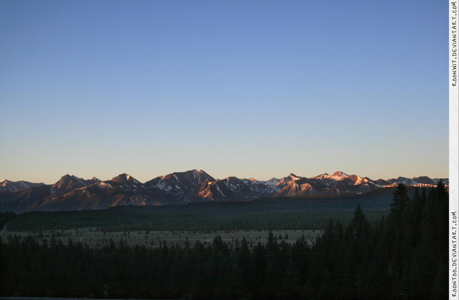 Sierra mountain sunrise 2 by RoonToo