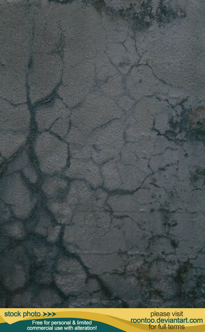 Cracked concrete 4 by RoonToo