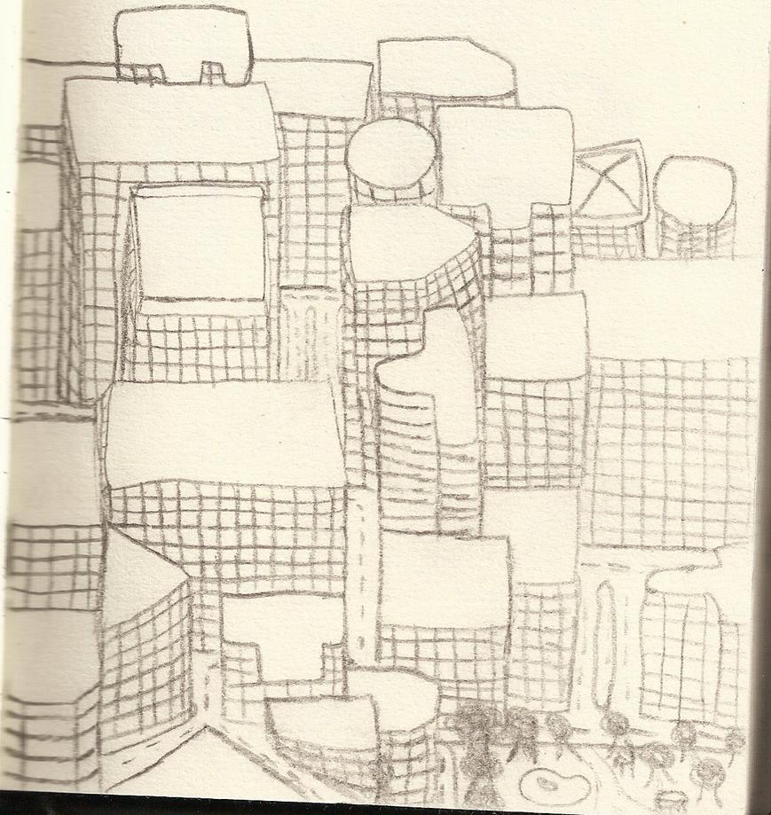 City drawing by WiztheFox2
