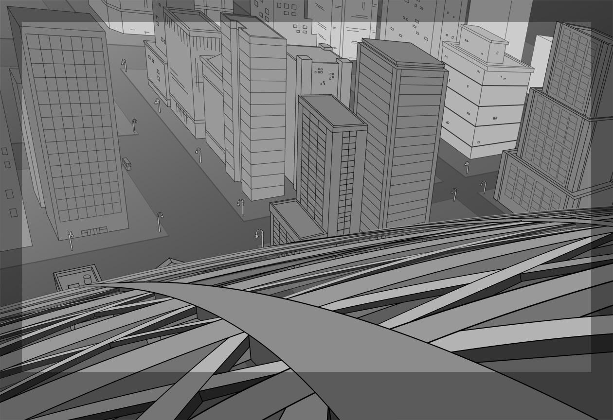 Gotham with Eiffel Tower Downshot