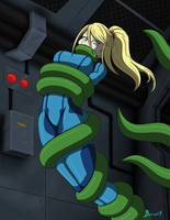 Space Tentacles Samus by burnup19