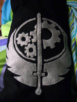 Brotherhood of Steel Pillow by happy-kittens