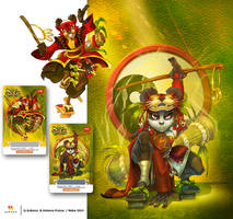 2 illustrations of outfits (Dofus mag 39-40) by MabaProduct