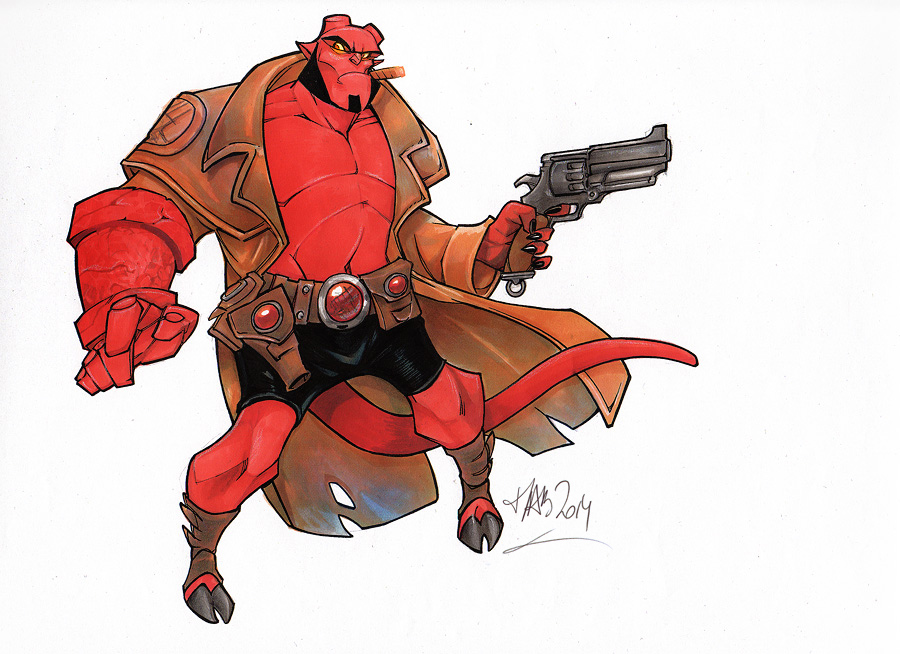 Hellboy Fan art by MabaProduct