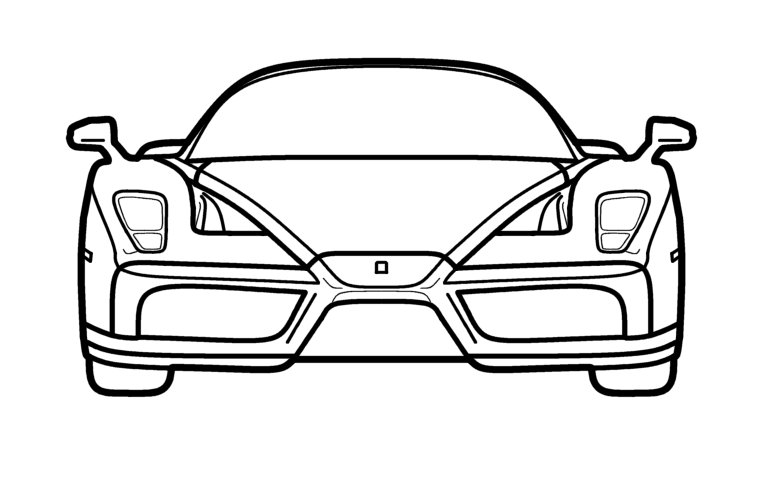 Enzo Ferrari Line Drawing By Playingintraffic On Deviantart
