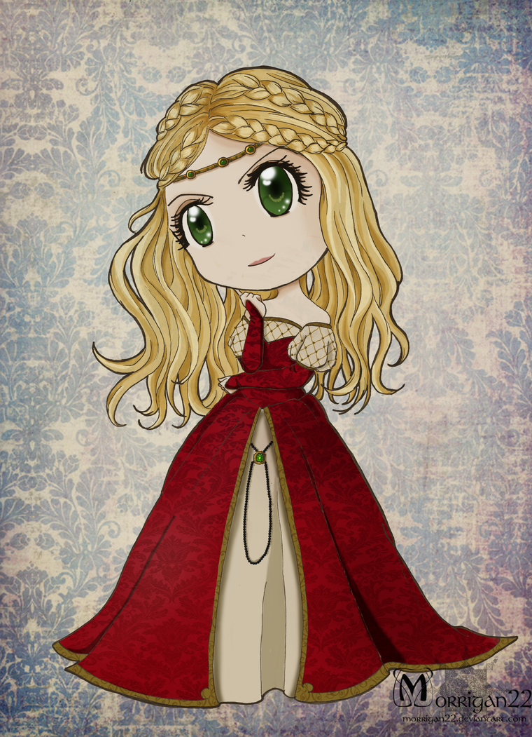 Chibi Cersei Lannister by Morrigan22