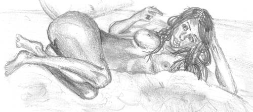 nude pose by krazeesnowman