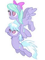 Cloud Chaser and Flitter by DeathNyan