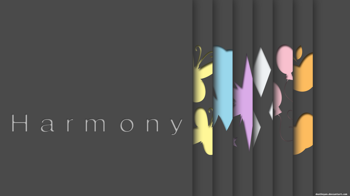 Harmony Wallpaper Minimalist Dark V2 by DeathNyan