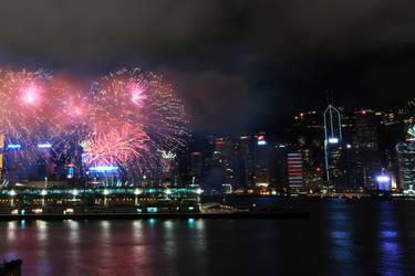 Fireworks in HongKong by DaniBabitz