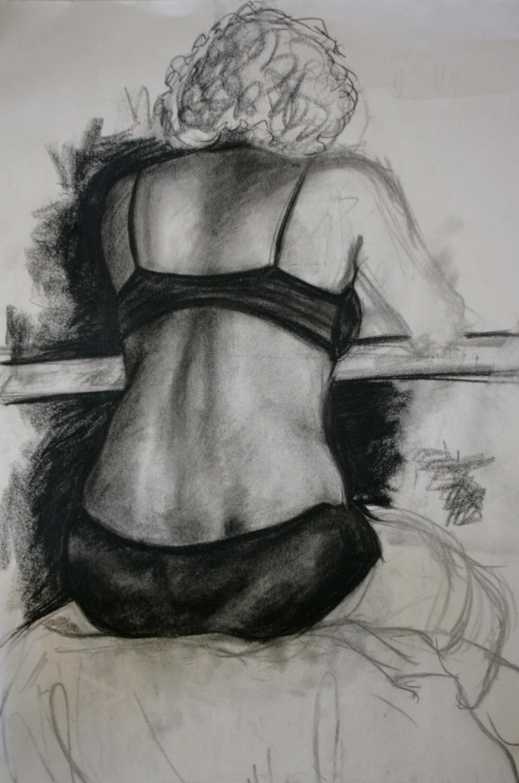 Womans Back Drawing Woman 39 s Back by Lafayeness