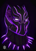 black panther by dragonkan
