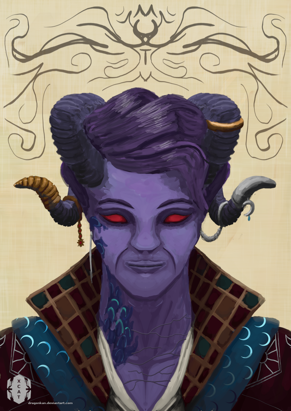 Mollymauk Tealeaf - critical role fan art by dragonkan