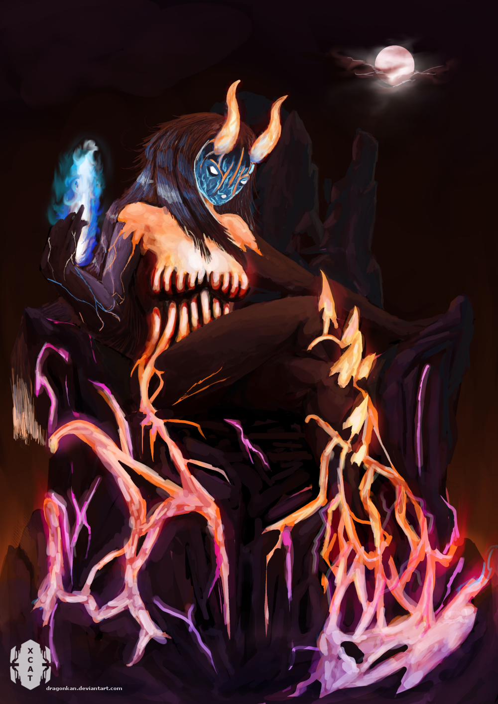 Fire elemental _ 2018 redraw by dragonkan