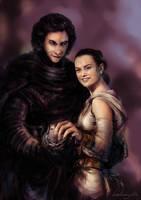 Kylo and Rey by DarthShizuka