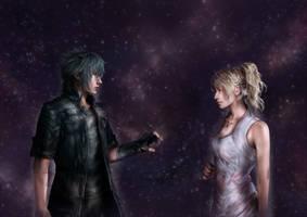 Noctis and Luna by DarthShizuka