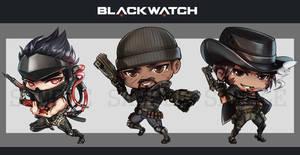 BLACKWATCH ACRYLIC CHARMS by DarthShizuka