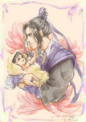 Jiang Cheng and baby Jin Ling by DarthShizuka