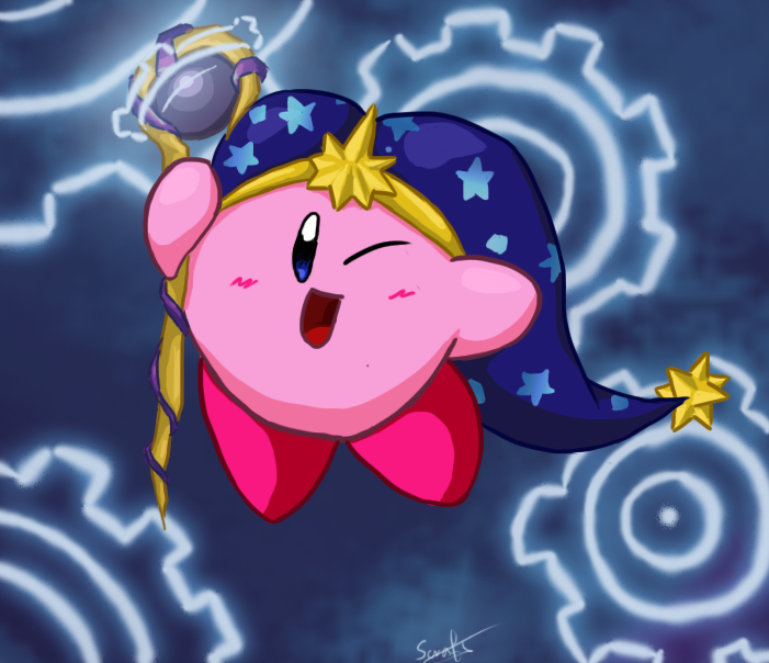 Time Wizard Kirby by WaddleBih