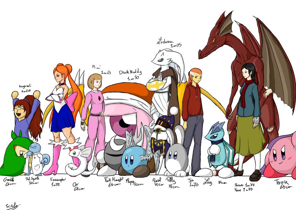Character Lineup by WaddleBih