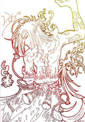 KotA: Loki Lineart by The-Dasair