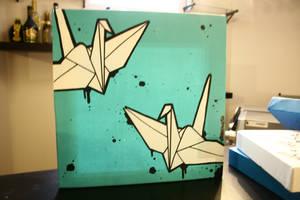 Paper crane friends. by chassense