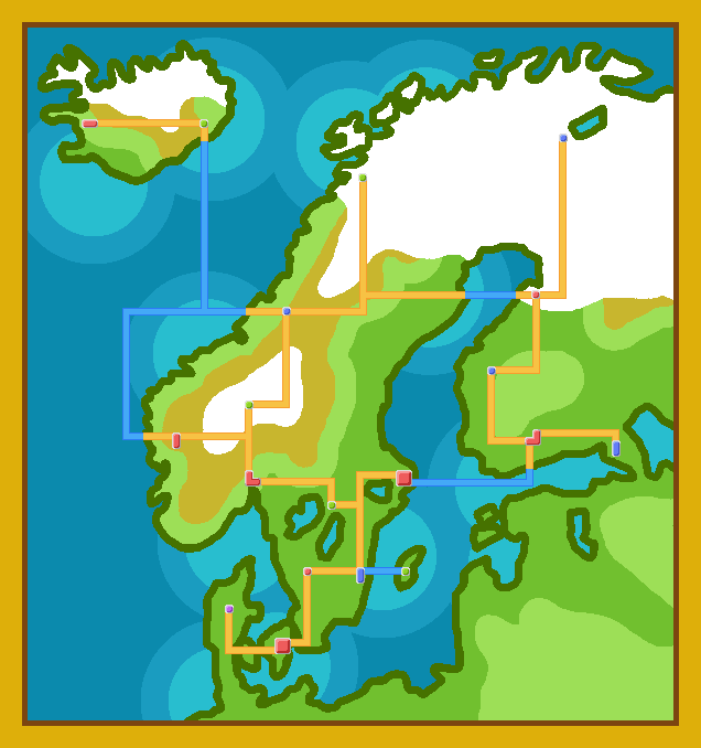 Pokemon Map Of Scandinavia By Iklone On DeviantArt - Map of scandinavia