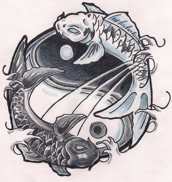 Koi ying yang by poeticxtragedy65 on deviantart for Koi fish yin yang