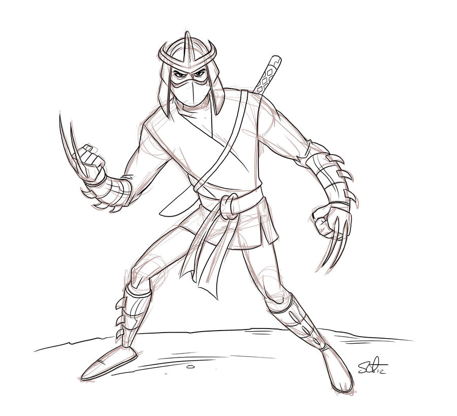 tmnt coloring pages shredder machine-#28