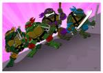 Classic Teenage Mutant Ninja Turtles.