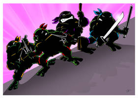 Classic TMNT in the shadows. by scootah91