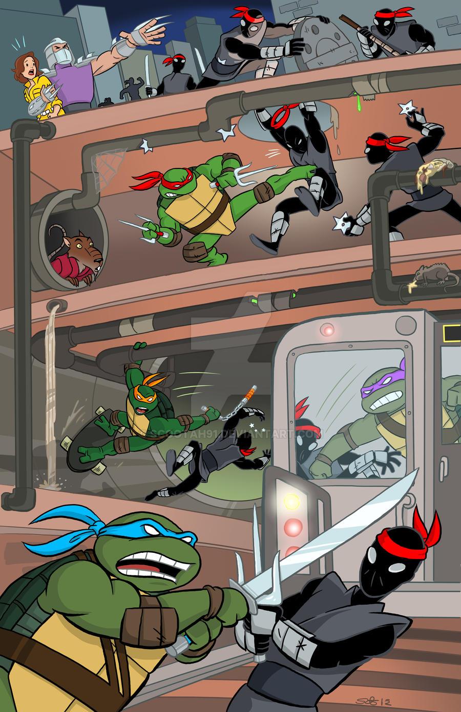 Teenage Mutant Ninja Turtles Poster. by scootah91 on ...
