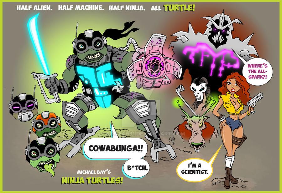 Michael Bay's Ninja Turtles. by scootah91