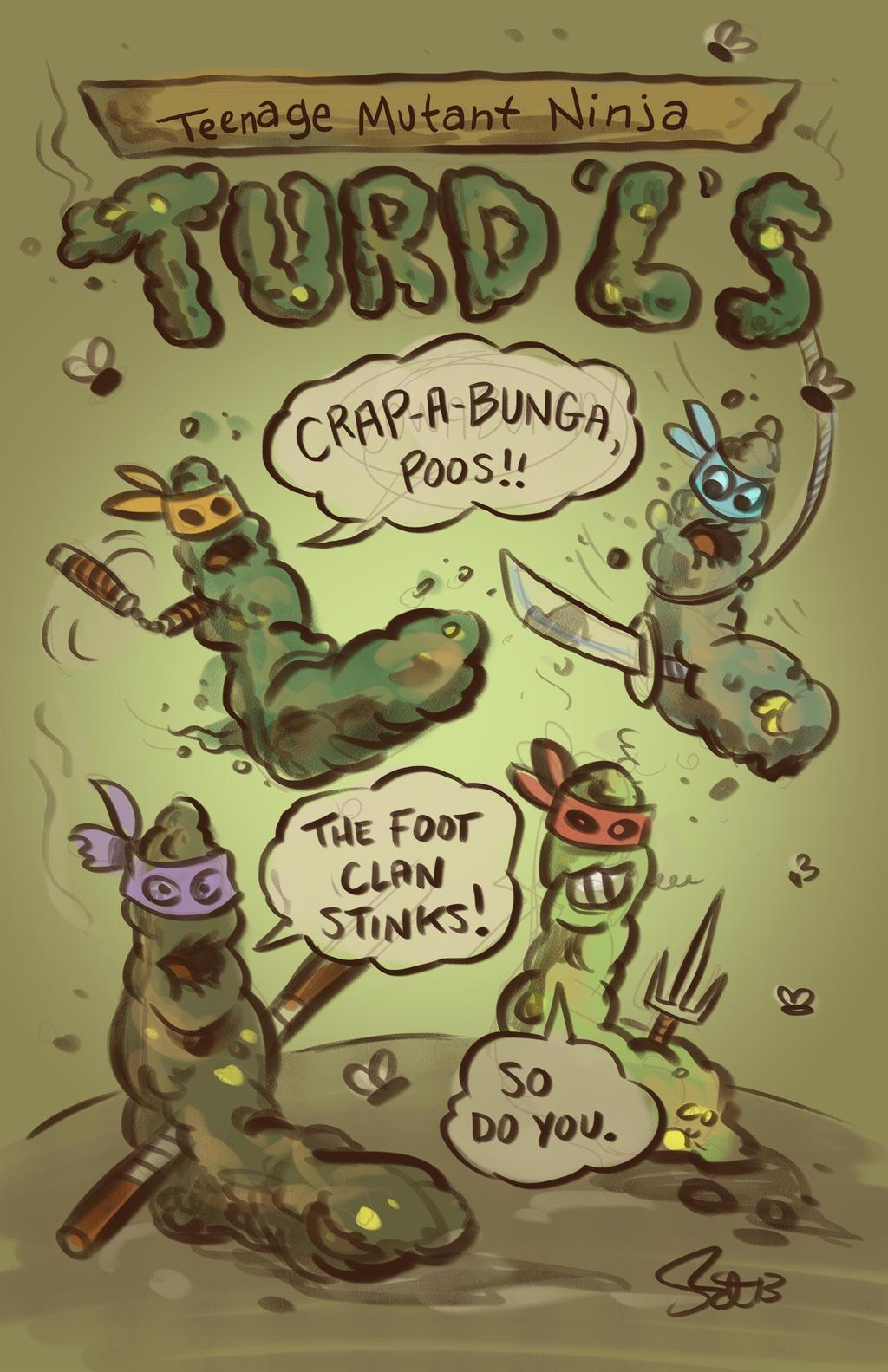 Ninja Turds by scootah91