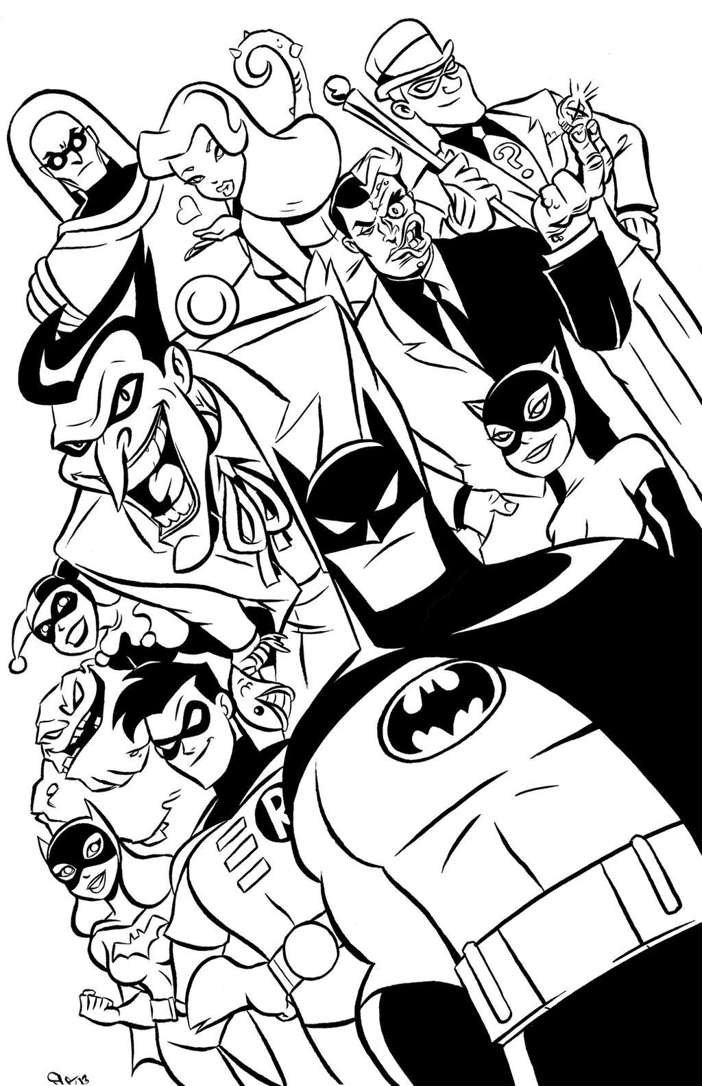 coloring pages batman villains - photo#38